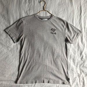 💜Diamond Supply Co. Gray T-shirt-Size: L